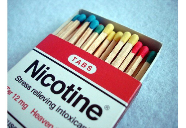 Pack of Cigarette Labeled Nicotine