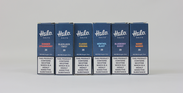 Halo Salts Review - Packaging and Design