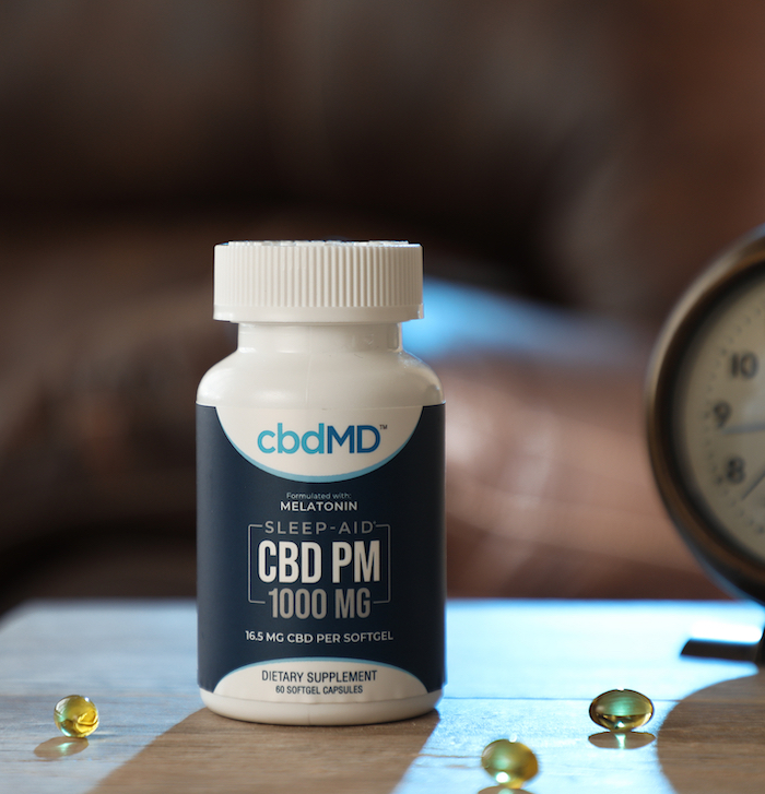 cbdMD CBD PM sleep capsules