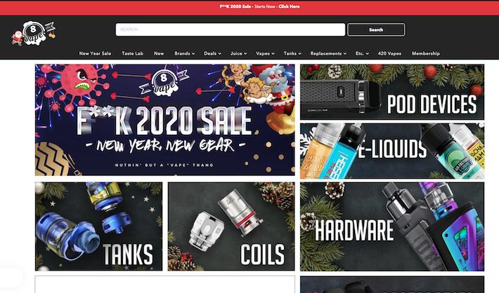 8Vape e-commerce store