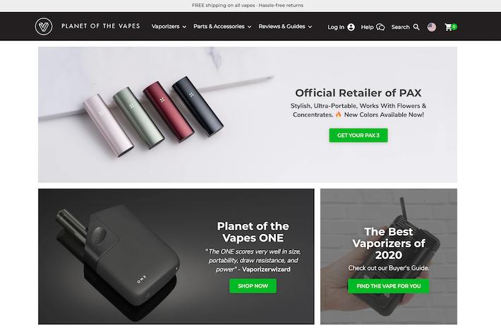 Planet of the Vapes e-commerce store