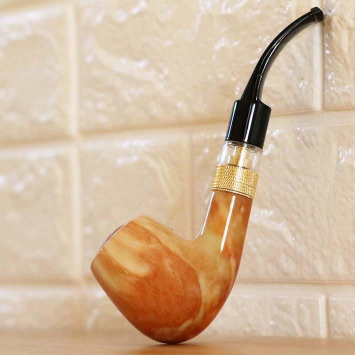 Wooden marble vape pipe